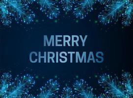 cartolina di Natale astratta con ramo di un albero di abete