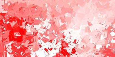 modello triangolo astratto vettoriale rosso chiaro.