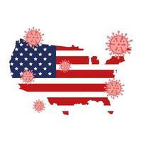 mappa degli Stati Uniti e campagna di prevenzione del coronavirus