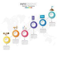 modello di infografica con il concetto di icone di marketing digitale.
