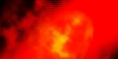 sfondo vettoriale rosso scuro con cerchi.