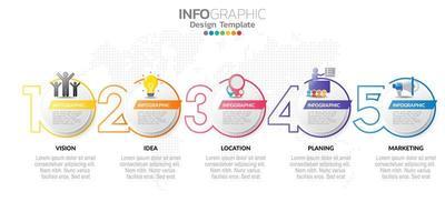 banner di marketing online digitale con icone per contenuti aziendali.
