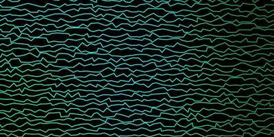 modello vettoriale verde scuro con linee curve.