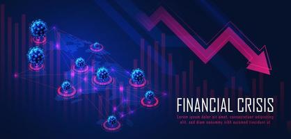 crisi finanziaria globale da pandemia di virus vettore