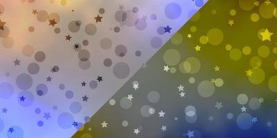 layout vettoriale con cerchi, stelle.