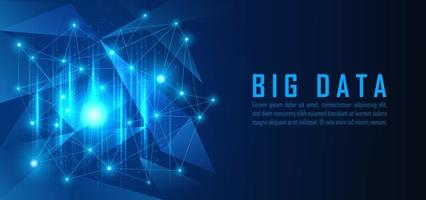 visualizzazione di big data vettore