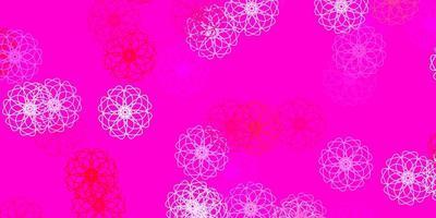 sfondo naturale vettoriale rosa chiaro con fiori.