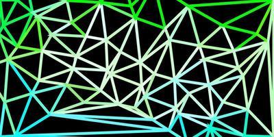 carta da parati poligonale geometrica di vettore verde chiaro.