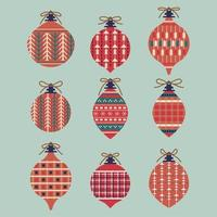 set di decorazioni di palle di Natale