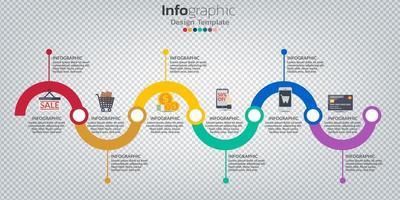 infografica nel concetto di business con 8 opzioni, passaggi o processi.