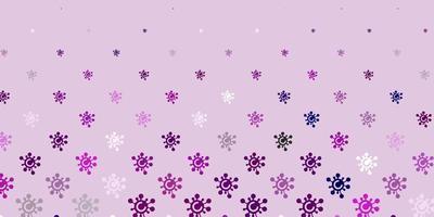 modello vettoriale viola chiaro con segni di influenza