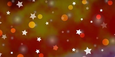 modello vettoriale multicolore chiaro con cerchi, stelle.