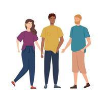 gruppo di giovani personaggi avatar