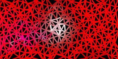 disegno a mosaico triangolo vettoriale rosa chiaro, rosso.