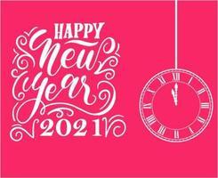 astratto felice anno nuovo 2021 vettore