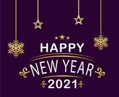 felice anno nuovo 2021 vettore