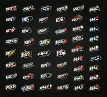 set di logotipi sportivi mega bundle