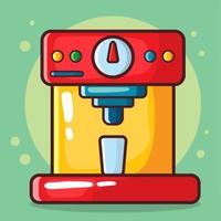 illustrazione del fumetto isolata macchina da caffè in stile piano vettore