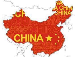 Una mappa della Cina. vettore