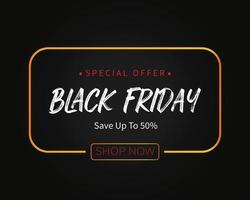 venerdì nero offerta speciale vendita modello sfondo vettoriale
