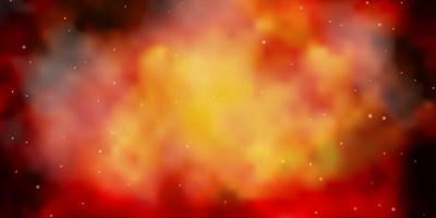 trama vettoriale arancione scuro con bellissime stelle.