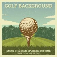 Illustrazione di golf vintage vettore