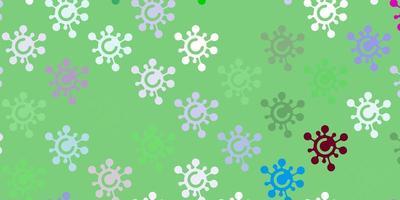 trama vettoriale multicolore leggera con simboli di malattia