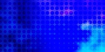 modello vettoriale rosa chiaro, blu con sfere.