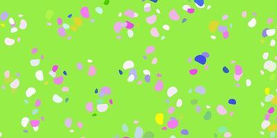 modello di vettore multicolore chiaro con forme astratte.