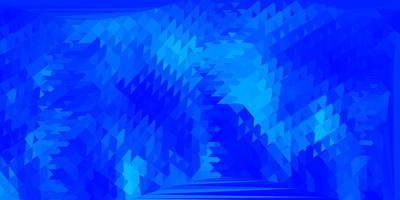 layout di triangolo poli vettoriale blu chiaro.
