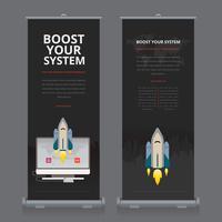Business Roll Up. Standee Design. Modello di banner. vettore