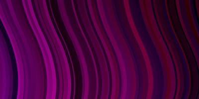 sfondo vettoriale rosa scuro con curve.