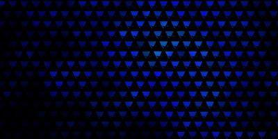 layout vettoriale blu scuro con linee, triangoli.