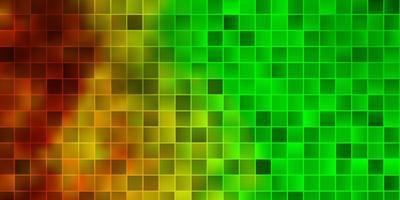 modello vettoriale verde chiaro, giallo in stile quadrato.
