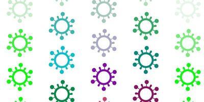 trama vettoriale multicolore leggera con simboli di malattia.