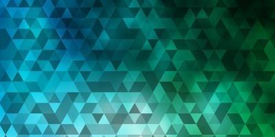 layout vettoriale azzurro, verde con linee, triangoli.