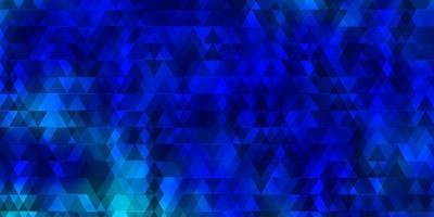 modello vettoriale azzurro con linee, triangoli.