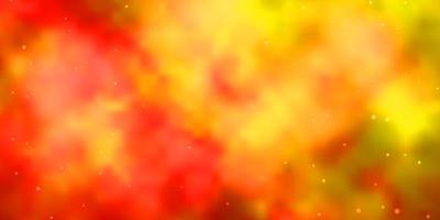 modello vettoriale arancione chiaro con stelle astratte.