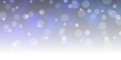 sfondo vettoriale blu scuro con cerchi.