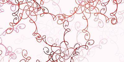 modello vettoriale rosso chiaro con linee ironiche.