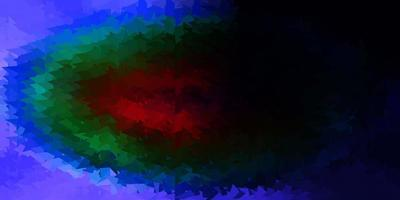 layout di triangolo poli vettoriale multicolore scuro.