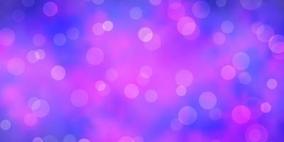 layout vettoriale viola chiaro, rosa con cerchi.