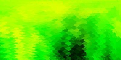 carta da parati poligonale geometrica di vettore verde chiaro, giallo.