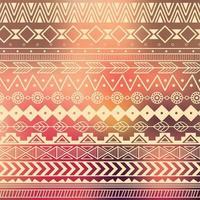 motivo tribale azteco a strisce vettore