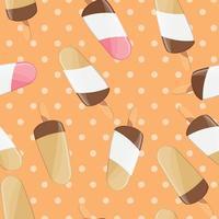 modello senza cuciture gelato, sfondo colorato estate, deliziose prelibatezze dolci