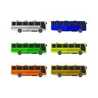 autobus urbano illustrato su sfondo bianco vettore