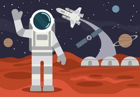 Illustrazione di esplorazione di Marte
