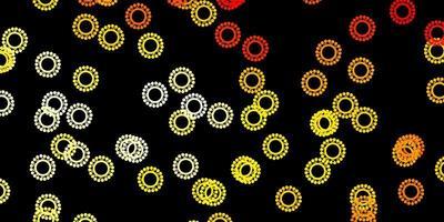 modello vettoriale arancione scuro con segni di influenza