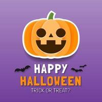 felice modello di banner di halloween con zucca spettrale