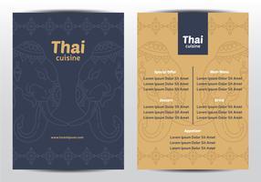 Menu dell'ornamento dell'elefante tailandese vettore
